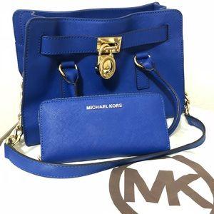 MK Michael Kors Hamilton Saffiano Satchel & Wallet